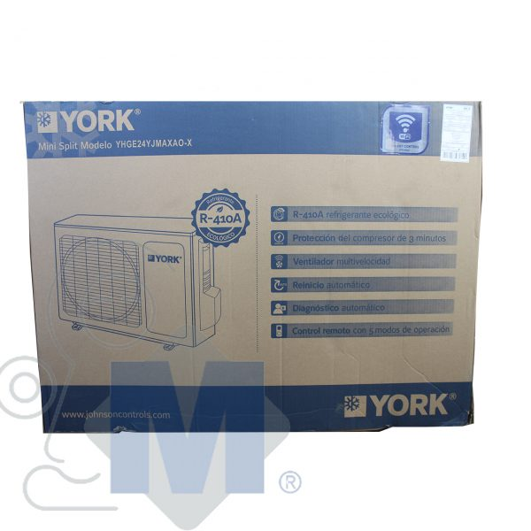 caja de mini split york 2 toneladas